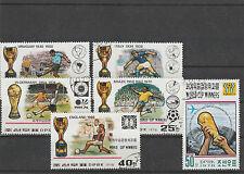 DPRK MiNr. 1747 - 1752 gest., Fußball WM 1978; bisherige Fußballweltmeister