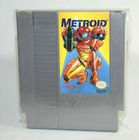 Metroid NES Nintendo AUTHENTIC & Tested! RARE Yellow Label! GREAT Condition!