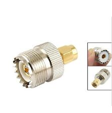 SMA Male Plug to UHF PL259 SO239 Female RF Connector Adapter F7890K