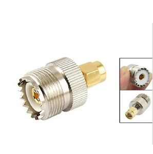 SMA Male Plug to UHF PL259 SO239 Female RF Connector Adapter              890