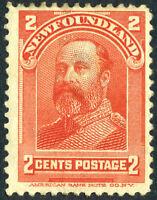 Canada 1898 Newfoundland 5¢ Vermillion Scott #82 Mint K612