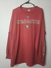 Team Apparel NFL Adult Shirt San Francisco 49ers Football XL NFC Long Sleeve