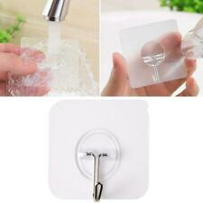 10Pcs  Hooks Transparent Strong Self Adhesive Door Wall Hangers Suction Rack