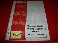 """Suzuki Motorcycle & Atv Wiring Diagram Manual 2000 """"Y"""" Models Exc. Condition"""