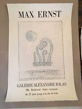 Max Ernst Vintage Exhibition Poster 1967 Galerie Alexandre Iolas Paris France