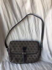 GRAY SIGNATURE DOONEY AND BOURKE SHOULDER BAG WITH LOGO