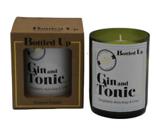 Gin and Tonic Scented Green Glass Bottle Candle 50 Hours Burn Time H10 X W7.5cm