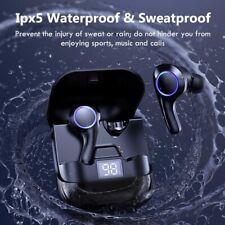 Wireless Headphones with Microphones TWS Bluetooth Earphones Sports Waterproof H