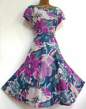 MONSOON ✩ STUNNING POSEY BLOOM FLORAL SUMMER COCKTAIL DRESS ✩ UK 18 ✩