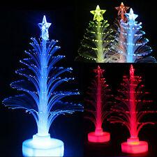 Color Changing LED Fiber Optic Nightlight Christmas Tree Lamp Light Xmas Gift