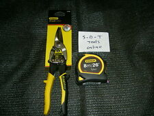 STANLEY FATMAX TIN SNIPS AND 8M TYLON TAPE MEASURE TWIN SET 2-14-563 + 1-30-656