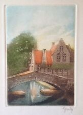 Signed Gusty Olsson Etching The Castle