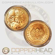 1 x 1oz Pure Copper Coin Debt & Death Zombie Round