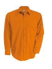 Chemise homme manches longues orange Kariban - K545