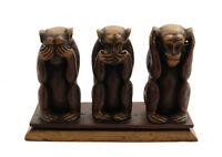 3 Monos de La Sabiduría De Resina 1KG Artesanía Hecho Manual A 13cm FS5 1103