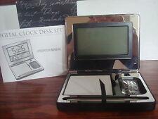 "Vintage Digital Clock ""Engravable"" Digital Clock Desk Set Things Remembered New"
