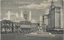 Postcard New York City City Hall & Municipal Buildings ca 1930s Unused