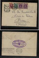 Belgium  cover  to  Popr Pius  1924       MS0109