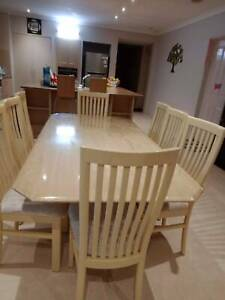 Solid Stone Dining Table -8 Seater ( Good Condition )