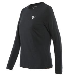 New Dainese Paddock Long Sleeve T-Shirt Women's S Black/White #202896846-622-S