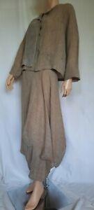 """Quirky """"Crea Concept"""" Parachute Skirt & Top in Linen. 40"""