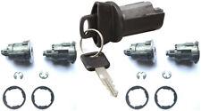 Ford Ignition Switch Lock Cylinder + 4 (Four) Door Lock Cylinder W/2 Logo Keys