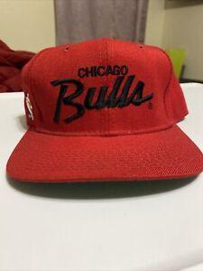 vintage chicago bulls sports specialties snapback hat