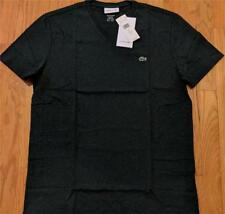 Mens Authentic Lacoste Pima Cotton V-Neck T-Shirt Dark Green 5 (Large) $49