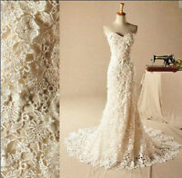 New White/Ivory lace Mermaid Wedding Dress Bridesmaid Bridal Gown Custom Size