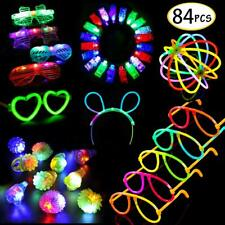 84 Pcs Glow in The Dark LED Party Supplies Party Light Up Toys Favors for Kids