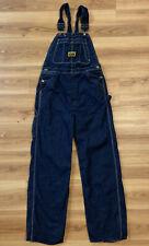 Vintage 50's Washington Dee Cee Sanforized Overalls 32 x 34 Dark Denim Jeans Nos
