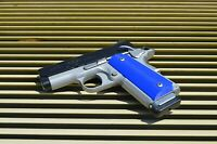 compact/ Officer 1911 grips (Blue) Colt, Kimber, RIA