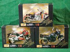 LOT of 3 MAITSO 1:18 Motorcycle Models - Triumph, Yamaha, Suzuki
