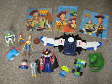 Disney TOY STORY 2 Figures Buzz Woody RC Rex Zurg LOT, Pixar Books in VGUC