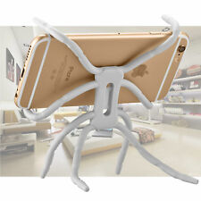 Spider Flexible Grip Novelty Holder Stand Mount for Universal Mobile Phone White