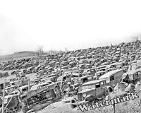 Photograph WWII Spitz Auto Junkyard Irwin Pennsylvania Year 1941  8x10