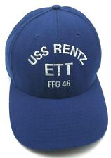 USS RENTZ ETT FFG 46 blue adjustable cap / hat - Made in USA!