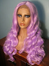 """26"""" thick wavy light PURPLE lace front hand tied wig - Soleil"""