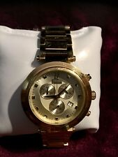 FREELOOK WATCH  ~GOLD PLATED~  STAINLESS HA1136CHMG/3 ~5ATM WATER RESISTANT