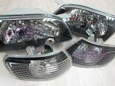 Headlight for Corolla TOYOTA sedan AE110 E110 98 99 00 01 02 black PA27 lu#G