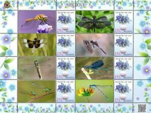 Moldova 2017, Fauna, Insects, Dragonflies, sheet of 8v