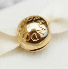 Pandora Serpentine Silver Fixed Clip Charm Heavy 14K Gold Plated 790338 Genuine