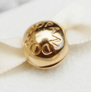 New Pandora Signature Clip Charm 14K Gold Vermeil Plated 791015 Genuine