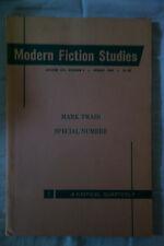 Modern Fiction Studies: A Critical Quarterly XIV 1 Spring 1968 Mark Twain number