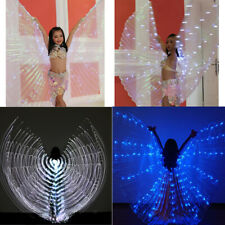 Luminous Isis Wings Egypt Stage Performance Belly Dance Wings Prop with Sticks