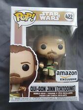 Funko Pop Qui-Gon Jinn (Tatooine) #422 Amazon Exc Sticker