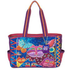 Laurel Burch - Medium Tote - Cats with Butterflies - NWT