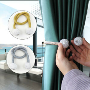 Curtain Tieback Magnetic Holdbacks Buckle Clips Home Living Room Hanging  Access