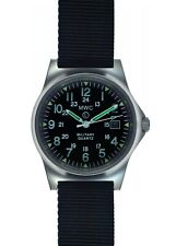 MWC G10 12/24 166ft Water Resistant Military Watch on Military Webbing Strap