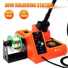 80w Rework Iron Soldering Station Electric Solder Kit Welding Tools Auto Sleep